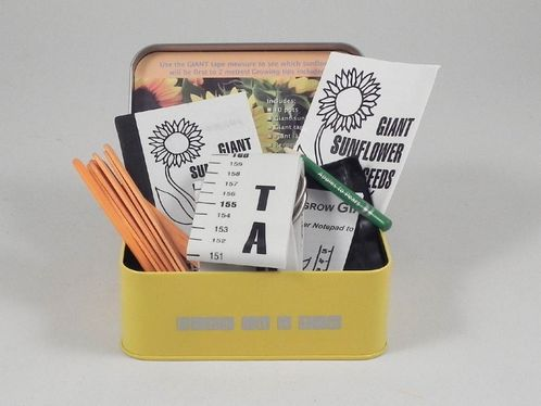 Sunflower Growing Kit in a Tin image #1