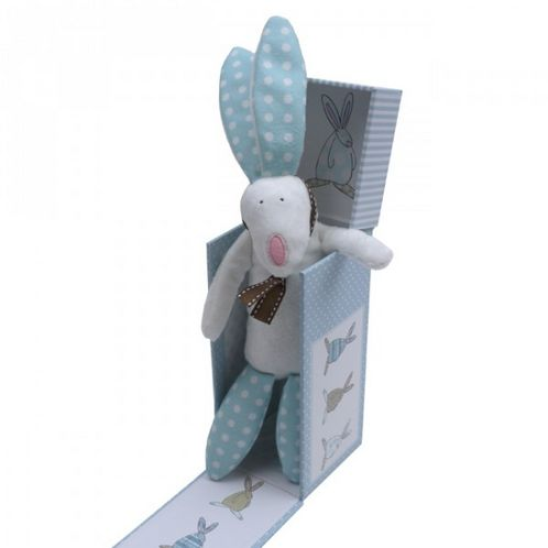 Rabbit Rattle with Gift Box - Boy image #1