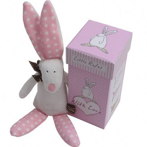 Rabbit Rattle with Gift Box - Girl image #1