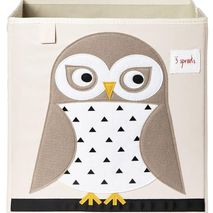3 Sprouts Applique Owl Storage Box