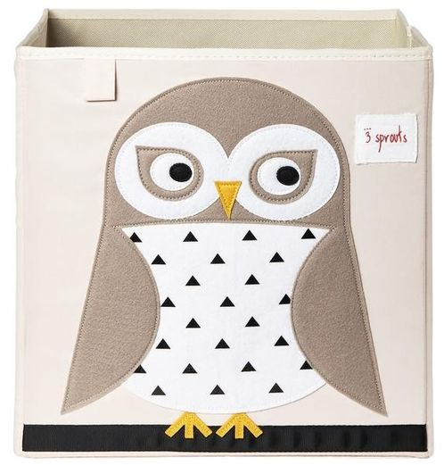 3 Sprouts Applique Owl Storage Box image #1