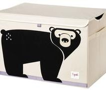 Applique Bear Toy Chest