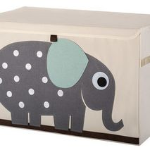 Elephant Applique Toy Chest