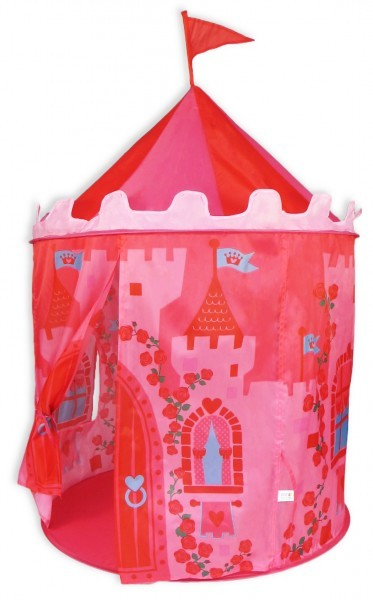 Girls pink princess castle pop up tent  image #1