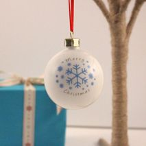 Personalised Snowflake Bauble