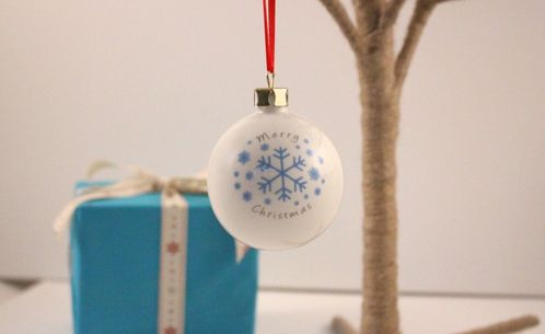 Personalised Snowflake Bauble image #1