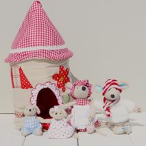 Fabric Mouse House & Family