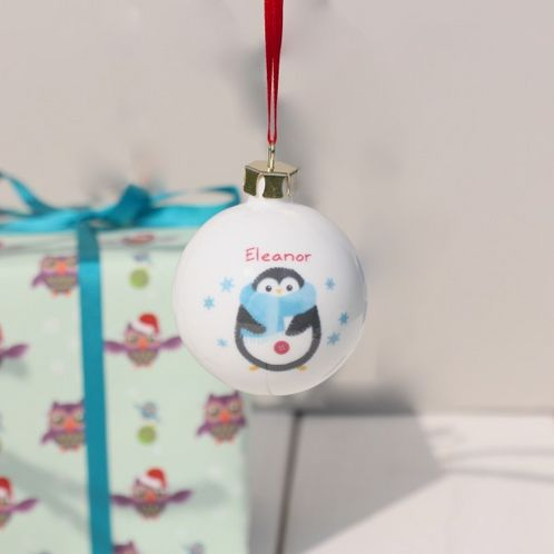 Personalised Penguin Bauble image #1