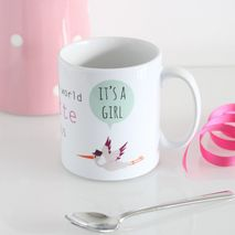 Personalised Baby Girl Mug