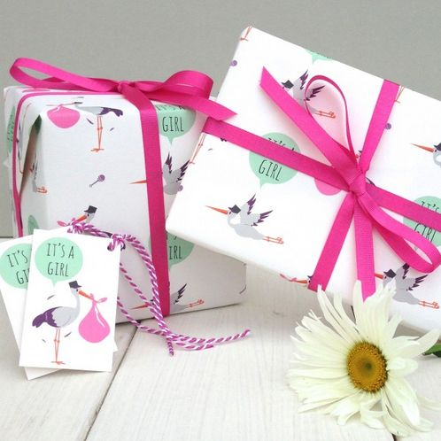 It's a Girl Gift Wrap image #1