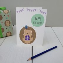 Hedgehog Birthday Greetings Card
