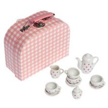 Mini Dolly Pink Spotty Tea Set