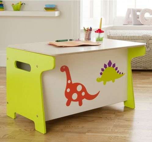 Dinosaur Toy Box and Desk image #1