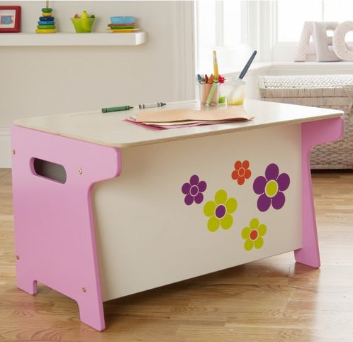 Flower Toy Box and Desk image #1