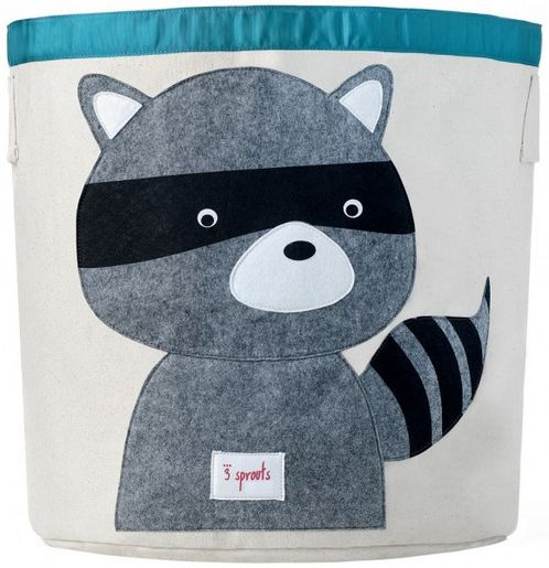 Applique Raccoon Storage Bin image #1