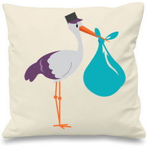 Blue Stork Cushion