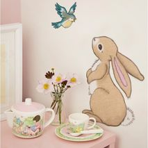 Belle and Boo Rabbit and Bluebird Wall Sticker