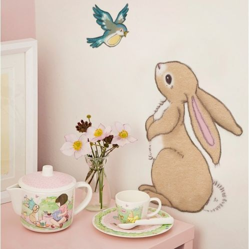 Belle and Boo Rabbit and Bluebird Wall Sticker image #1