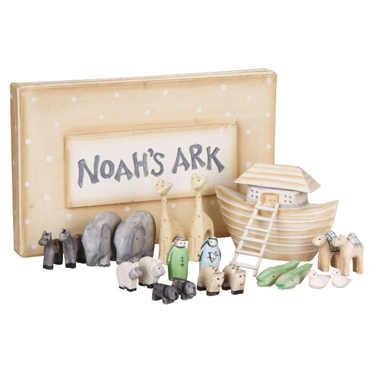 Wooden Miniature Noah S Ark