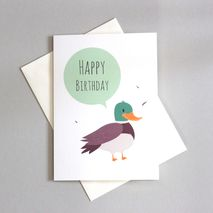 Duck Happy Birthday Greetings Card