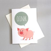 Pig Greetings Card