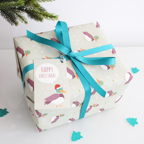 Duck Christmas Gift Wrap image #1