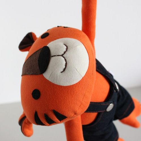 Organic Cotton Jeppe The Tiger Soft Toy image #1