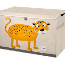 Leopard Applique Toy Box