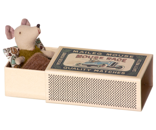 Maileg Matchbox mouse, boy image #1