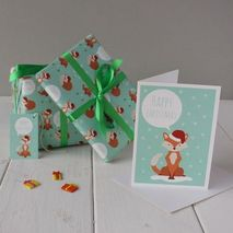 Festive Fox Christmas Greetings Card