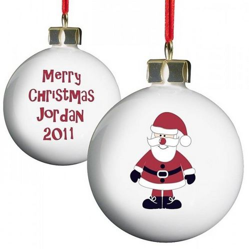Personalised Santa Bauble image #1