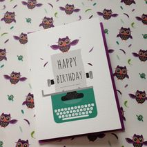 Owl Happy Birthday Greetings Card