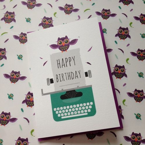 Owl Happy Birthday Greetings Card image #1