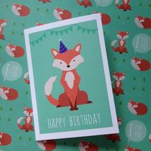 Fox Happy Birthday Greetings Card