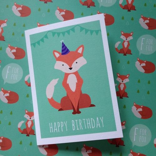 Fox Happy Birthday Greetings Card image #1