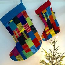 Handmade Patchwork Christmas Stocking Large