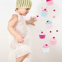 Sweet Cupcakes Wall Stickers