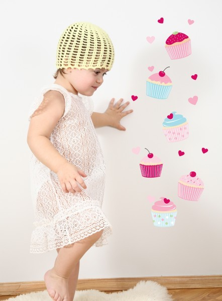 Sweet Cupcakes Wall Stickers image #1