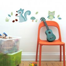 Blue Forest Wall Stickers