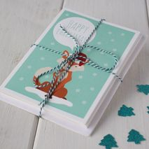Pack of 6 Forest Friends Christmas Cards
