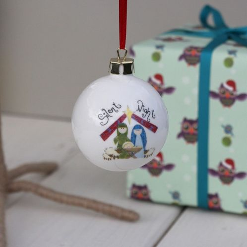 Personalised Silent Night Bauble image #1