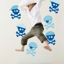 Blue Pirate Wall Stickers