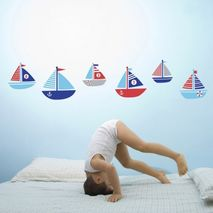 Ahoy There! Boat Wall Stickers