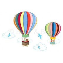 Belle and Boo Balloon Hot Air Wall Stickers