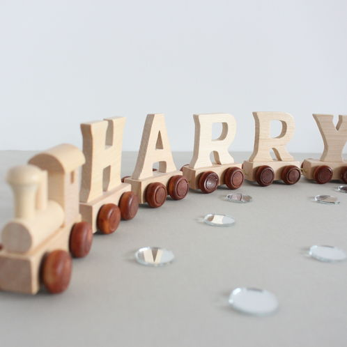 Personalised Wooden Name Train image #1